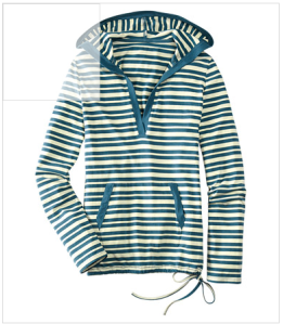 Stripy Stretch Hoody from Title Nine